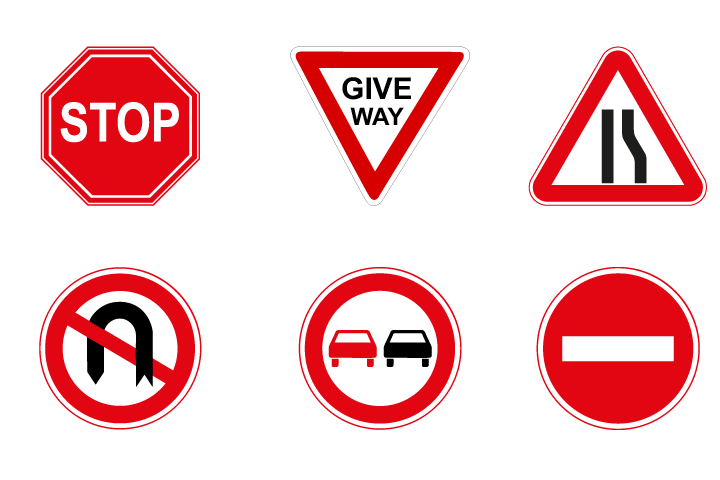 drive a matic road signs